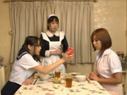 Nerdy Asian Schoolgirl Dominatrix Seduces Lesbian Teacher